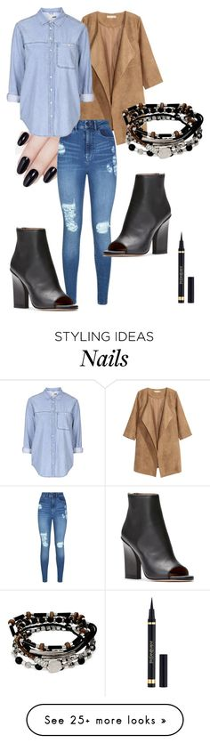 """""""New-York"""" by marion31 on Polyvore featuring ncLA, Lipsy, Topshop, Kenneth Cole and Yves Saint Laurent"""
