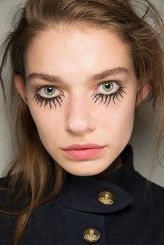 At Vivienne Westwood, each model had her own beauty look.