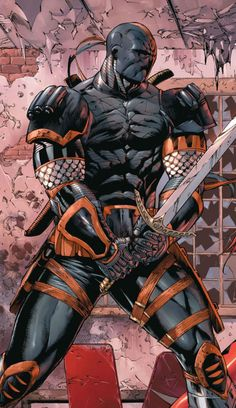Deathstroke (Slade Wilson) originally called simply the Terminator is a… Dc Heroes, Comic Book Heroes, Comic Books Art, Comic Art, Dc Deathstroke, Deathstroke The Terminator, Héros Dc Comics, Dc Comics Characters, Hq Marvel