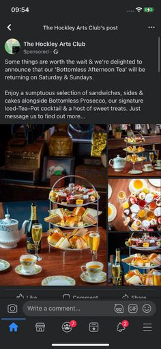 Nottingham, Prosecco, Iced Tea, Afternoon Tea, Waffles, Tea Pots, Sweet Treats, Sandwiches, Cocktails