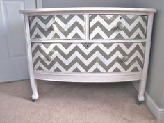 Chevron Painted Dresser ~ DIY