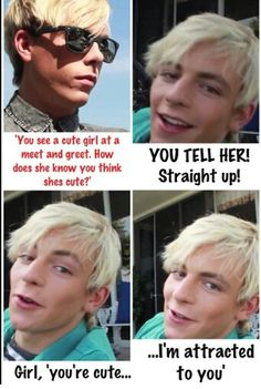 Ross, You're Cute...... I'm Attracted To You <3 <3 <3 <3 <3 <3 <3 <3