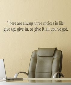 Give it your all!!