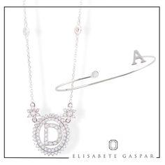 ✨Para quem ama peças únicas na Elisabete Gaspar você encontra a coleção Letras! Colar e pulseira de diamante branco com a letra do seu nome ou de alguém especial!✨ Para contato: 📱📞✉️contato@elisabetegaspar.com.br Whatsaap: (11)94188-4231