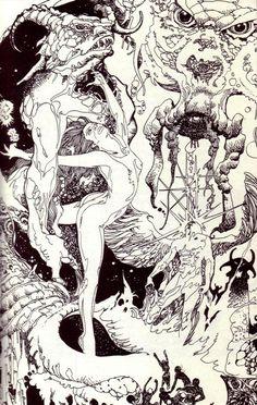 Original Comic Art titled TMGA located in Kevin's Collected Art Comic Art Gallery Comic Book Artists, Comic Books Art, Comic Art, Comic Book Drawing, Sword And Sorcery, Black White Art, Ink Pen Drawings, Fantasy Artwork, Illustration Art