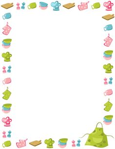 Printable kitchen border. Free GIF, JPG, PDF, and PNG downloads at http://pageborders.org/download/kitchen-border/