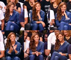 Beyonce at the Miami Heat Vs. Brooklyn Nets Game May 12th, 2014