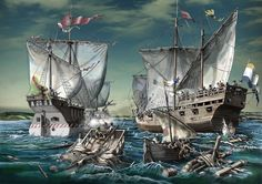 La Pintura y la Guerra. Sursumkorda in memoriam Naval History, Military History, Roman Era, Ship Of The Line, Dutch Golden Age, Remo, Nautical Art, Tall Ships, Battleship