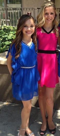 Maddie & Chloe in their Sally miller dresses for TCAs. Chloe's comes out in January and Maddie's in Febraury Sally Miller tweeted.
