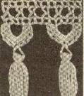 59 Free Crochet Patterns for Edgings, Trims, and Blanket Borders: 27. Tasselled Bedspread Edging