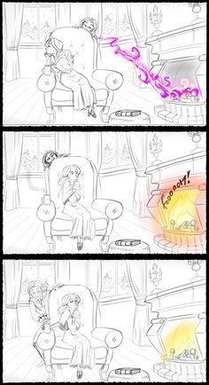 Rumbelle fan art cartoon 2/5