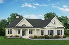 Plan of the Week Under 2500 sq ft – The Larkspur Plan 1792 sq ft, 3 beds, 3 baths. The Plan, How To Plan, Craftsman Ranch, Craftsman Bungalows, Country Style House Plans, Craftsman Style House Plans, Farmhouse Plans, Farmhouse Design, Farmhouse Style