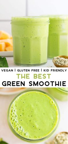 Snacks Protein The Best Vegan Green Smoothie recipe, perfect for kids as well as grown ups!Recipes Snacks Protein The Best Vegan Green Smoothie recipe, perfect for kids as well as grown ups! Smoothie Bowl Vegan, Smoothie Legume, Smoothie Fruit, Vegan Smoothie Recipes, Best Green Smoothie, Smoothie Drinks, Smoothie Diet, Healthy Smoothies, Healthy Drinks