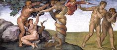 La tentation d'Adam et Ève, par Michel-ange