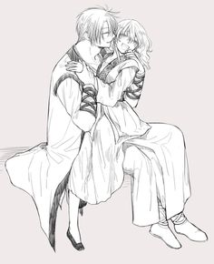 Akatsuki no Yona / Yona of the Dawn manga and anime Yona Akatsuki No Yona, Anime Akatsuki, Anime Couples, Cute Couples, Manga Anime, Anime Art, Anime Kiss, Gamers Anime, Girl Standing