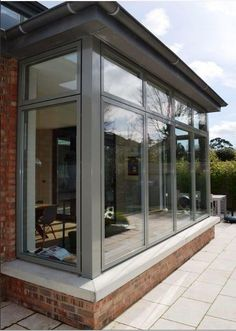 BETONFENSTER RAL 7023 GRAU - Other home ideas - - You are in the right place about balcony grill Here we offer you the most beautiful pictures about the House Extension Design, Glass Extension, House Design, Garden Room Extensions, House Extensions, Grey Windows, Windows And Doors, Sunroom Windows, Orangery Extension