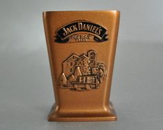 Jack Daniels Distillery 2002 Metal Shot Glass Old No 7 Copper Color  $14.99  at CatnuttiAgain