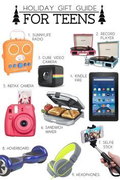 Holiday Gift Guide for Teens. Lots of great ideas here. Love the stocking stuffer ideas as well.