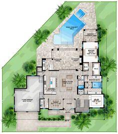 contemporary modern house plan 52917