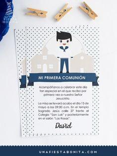 imprimible - INVITACIÓN - PRIMERA COMUNIÓN - NIÑO MARINERO