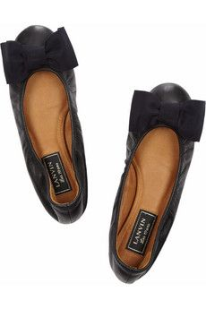 Lanvin ballet flats (black with a navy bow!).