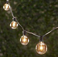 For the back porch! // Party Globe Light String | Light Strings | Restoration Hardware