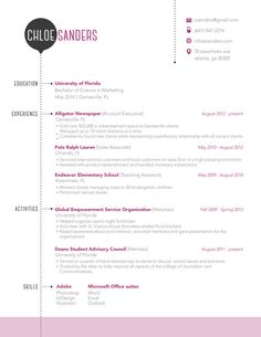 Resume Template | Available on Etsy