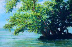 """Picnic Island Point by Tammy Cox Pastel ~ 7"""" x 11"""""""