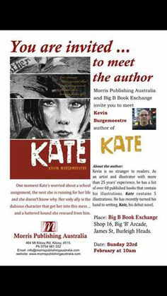 Book signing with author/illustrator Kevin Burgemeestre for his debut novel 'Kate.'