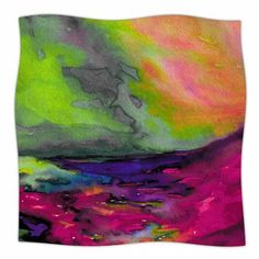 """East Urban Home 'Elevated' By Ebi Emporium Fleece Blanket Color: Teal/Purple, Size: 80"""" L x 60"""" W x 1"""" D"""