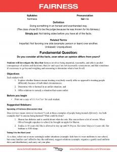 Fairness - Character Lesson Plan. Free, downloadable, 52 total.