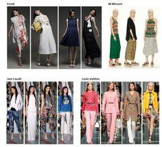 Preview Spring Summer 2015 apparel, shoes and make up by Fendi, M Missoni, Just Cavalli, Louis Vuitton ----- pre-collezione moda trend Primavera Estate 2015 abbigliamento scarpe accessori e trucco