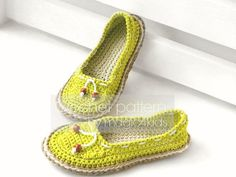 Crochet pattern women shoes with rope