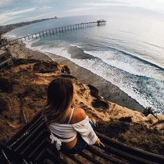 Photo of the Day: The #ocean has a way of washing the stress away. Who's ready for a great #weekend? Shot by #GoProFamily member @johnonelio above the cliffs of #SanDiego. • • • #GoPro #GetOutside #SouthernCalifornia #Sunset