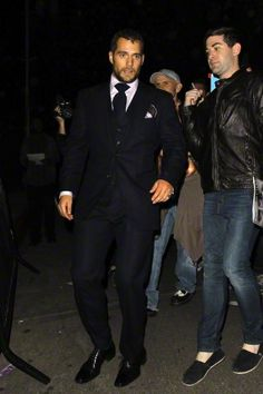 """Henry Cavill leaves Chateau Marmont with his friend Cory Spears after a """"W Magazine Golden Globe"""" party"""
