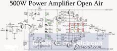 Schematic diagram 500W Amplifier open air