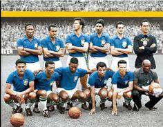 Suecia 1958-La selección de Brasil gana el Campeonato