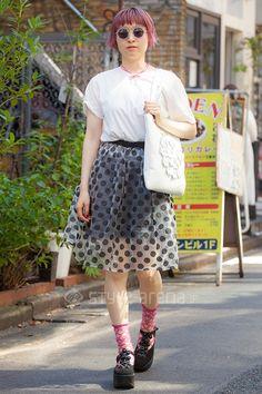 dee | LOWRYS FARM used  Mimi megane and me TOKYO BOPPER mintdesigns | 2nd week  Sep. 2016 | Harajuku | Tokyo Street Style | TOKYO STREET FASHION NEWS | style-arena.jp