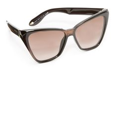 Givenchy Cat Eye Sunglasses ($295) ❤ liked on Polyvore featuring accessories, eyewear, sunglasses, givenchy eyewear, brown glasses, cat eye sunnies, brown sunglasses and givenchy glasses