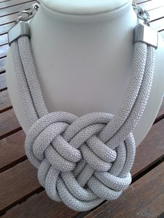 Silver climbing cord necklace with knots!! https://www.facebook.com/xeiropoiites.dimiourgies.1