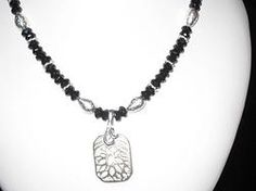 Necklace Black onyx and silver