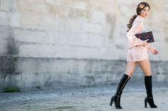 The Best Street Style at Paris Fashion Week Spring 2016   Blushing