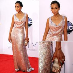 Kerry Washington's dress at the 2012 Emmys was so gorgeous!  Truly chic.