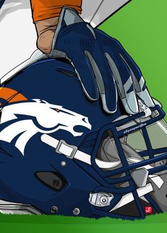 "NFL Team Helmets Denver Broncos #Displate artwork by artist ""Akyanyme Dotcom"". Part of a 32-piece set featuring helmet designs based on team emblems from the NFL National Football League. £38 / $51 per poster (Regular size), £76 / $102 per poster (Large size) #NFL #NationalFootballLeague #AmericanFootball #SuperBowl #DenverBroncos #Broncos"