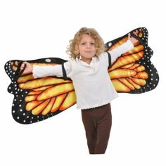 Monarch Butterfly Plush Costume Wings by Adventure Kids: One Size Fits Most with 44 inch Wingspan by Adventure Kids by Adventure Planet. $11.59. Let your imagination soar and get bugged out for dress up time with these gorgeous Monarch Butterfly Plush Costume Wings by 'Adventure Planet'! Creative playtime can be a great way to teach your kids about the natural world. The fun is all up to you! Wings measure approximately 44 inches across, and each wing has two soft elastic b...