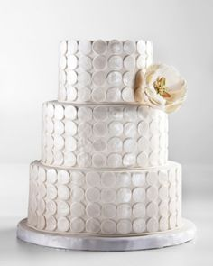 silver art deco wedding cake {Cake Inspiration} Silver Art Deco Wedding Cake by YvetteLansell