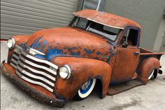 Rusted out and laid out pick up