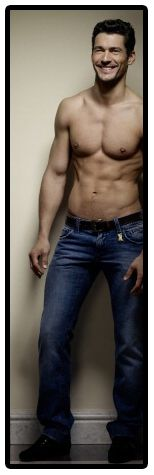 David Gandy -- shirtless, smiling & in jeans <3!!! Unf I want to have little English babies with him