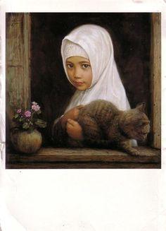 """The Window"" Li Zijian, 2001. A postcard from Malaysia"