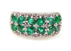 Genuine 1.90ct Emerald Diamond Ring Sterling Silver http://www.beckers.com/Detail.aspx?ProdId=498299=clearance